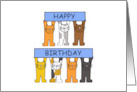 Happy Birthday Cartoon Cats. card