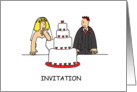 Party invitation to celebrate a wedding. card