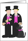 Wedding congratulations to male couple. card