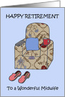 Midwife Happy Retirement. card