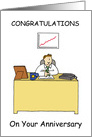 Work anniversary congratulations for male. card