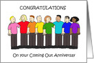 Coming Out Anniversary Congratulations. card