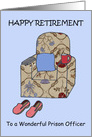 Happy Retirement to Prison Officer. card