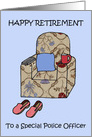 Police Officer Happy Retirement. card