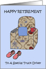 Happy Retirement to Truck Driver. card