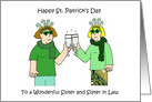Happy St. Patrick's Day Sister and Sister in Law. card