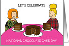 National Chocolate Cake day January 27th. card