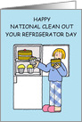 National clean out your refrigerator day November 15th. card