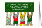 Phlebotomist Happy Christmas Cats. card