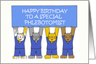 Phlebotomist Happy Birthday Cats. card