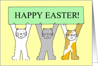 Happy Easter fun cats. card