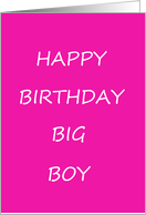 Gay male birthday. card