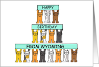 Cats Happy Birthday from Wyoming . card