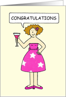 Congratulations you've lost weight and you look great. card