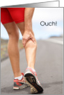Get well, recovery from injury for runner. card
