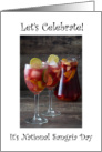 National Sangria Day December 20th card