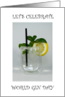 World Gin Day second Saturday in June. card
