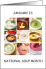 National Soup Month January card