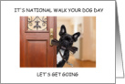 National Walk Your Dog Day. February 22nd card