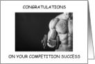 Body Building Competition Congratulations card