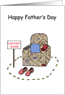 Father's Day armchair comfort zone fun.. card
