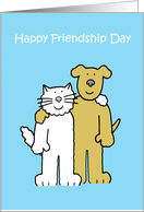 Happy Friendship Day cute pets.. card
