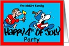 4th of July Personalized Party Invitation card