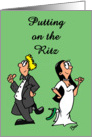 Black Tie Invitation - Putting on the Ritz card