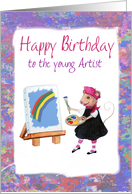 Happy Birthday - Little Artist Mouse card
