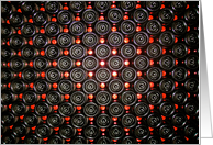 Wine bottles stacked on each other - Black and red abstract photo card