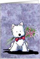 Westie Terrier Dog Happy Mother's Day card