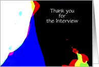 Thank You for the Interview, Abstract, Personalize Cover/Inside card
