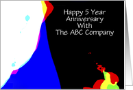 Employee Anniversary, 5 Years of Service, Abstract card