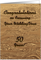 Congratulations on Renewing Wedding Vows, Liquid Gold card
