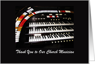 Thank You to Our Church Musician card