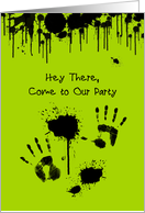Hey There, Come to our Paintball Party Invitation card