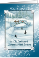 An Old Fashioned Christmas Wish For You card