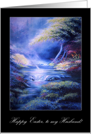 Faithstream Peaceful Waters Happy Easter to Husband card