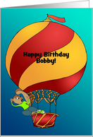 Birthday Hot Air Balloon Squirrel Customizable from Across the Miles card