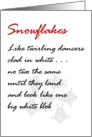 Snowflakes - a funny christmas poem card
