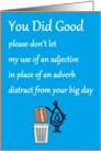 You Did Good - a funny congratulations poem for a new high school grad card