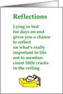 Reflections - a funny get well poem from all of us card