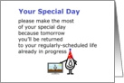 Your Special Day - a funny birthday poem from all of us card