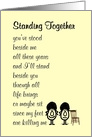 Standing Together - a funny poem about friendship and support card