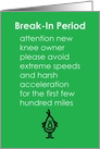 Break-In Period - A Funny Recovery From Knee Replacement Poem card