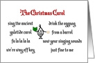 The Christmas Carol - A Funny Merry Christmas Poem Card