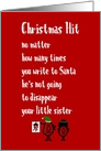 Christmas Hit - A Funny Merry Christmas Poem card