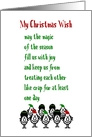 My Christmas Wish - A Funny Merry Christmas Poem card