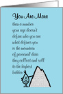 You Are More, A Funny Happy Birthday Poem card