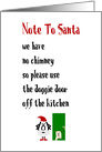 Note To Santa, A Funny Merry Christmas Poem card